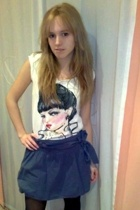 Zara skirt - Zara t-shirt