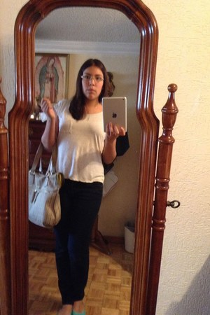 beige Tous bag - dark gray Levis jeans - beige Forever 21 blouse
