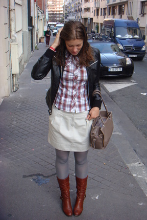 Zara jacket - Forever21 shirt - Comptoir des Cotonniers skirt - Aldo shoes