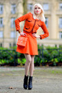 Carrot-orange-zara-dress-carrot-orange-forever-21-bag-black-valentiono-heels