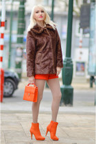 carrot orange free people shoes - dark brown Judi Rosen coat