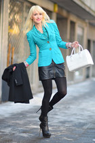 aquamarine Elf Sack blazer - white Furla bag - black Valntino heels