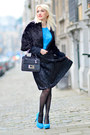 Black-apostrophe-skirt-sky-blue-lana-design-top