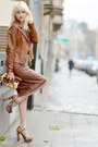 Gold-zara-jumper-dark-brown-forever-21-heels
