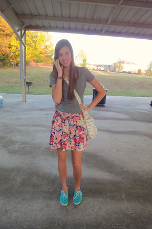 silver Target accessories - blue Urban Outfitters shoes - pink Forever 21 skirt