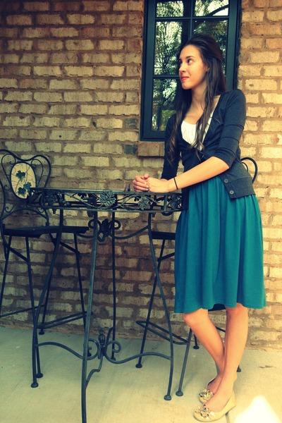 blue Target skirt - gold Target shoes - white Forever21 blouse - black Forever21