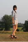 Blue-madewell-shirt-pink-jcrew-belt-beige-modcloth-shorts-black-jeffrey-ca