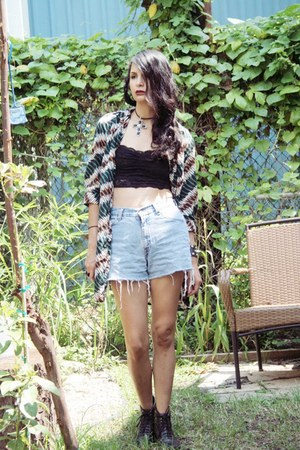 hipster tunic vintage blouse - crop top blouse