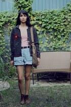 vintage shorts - vintage cardigan