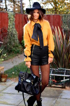 vintage shirt - so you shoes shoes - mulberry bag - topshop shorts