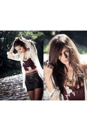 H&M shirt - H&M skirt - vintage top