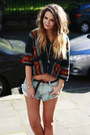 Insight-denim-cutoffs-shorts-forever-21-aztec-hoodie-top