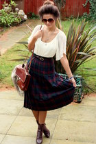 Granny Skirt skirt - Victorian Lace ups boots - Bag bag - Top top
