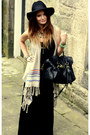 Hm-dress-topshop-hat-mulberry-bag-forever-21-cardigan