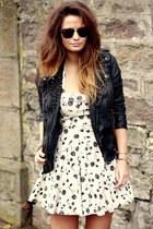 topshop dress - alllsaints jacket