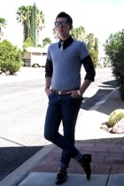 Hanes Perfect T t-shirt - Jill Sander shirt - Yves Saint Laurent tie - True Reli