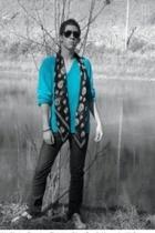 vintage glasses - christian dior sweater - Alexander McQueen scarf - rag & bone
