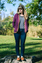 Urban Outfitters cardigan - thrifted t-shirt - modcloth flats