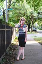 modcloth purse - hat - handmade scarf - H&M skirt - modcloth flats