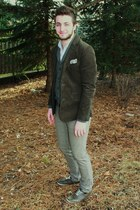 dark brown Forever 21 blazer - dark brown brown plimsolls Urban Outfitters shoes