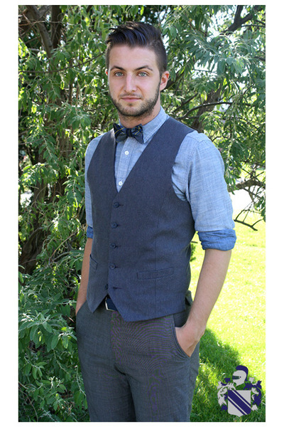 chambray shirt le chateau shirt - bow tie American Apparel tie