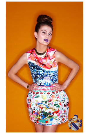 bubble gum Mary Katrantzou for Top Shop dress