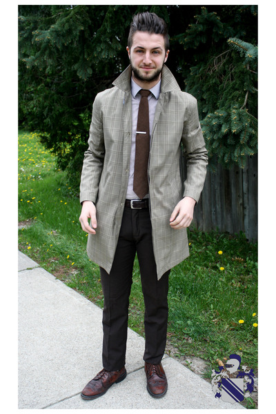 d876fbdeae4 tan le chateau coat - crimson wingtip brouges thrifted shoes
