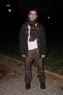 Black-timberland-boots-light-brown-timberland-jeans-black-pepe-jeans-jacket-