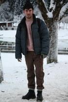 banana republic jacket - fabric scrap boots - Judi Rosen coat