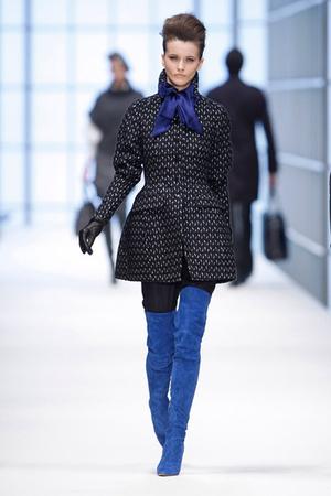 black Boss Black coat - blue Boss Black accessories - blue Boss Black boots - bl