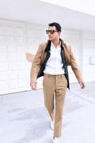 mustard Miu Miu coat - white Angelos Frentzos shirt - dark brown Hype sunglasses