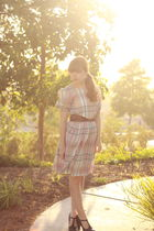 vintage dress - Urban Outfitters belt - Frye shoes