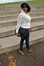 Off-white-leopard-print-shoes-navy-skinny-jeans-ivory-hooded-knit-sweater