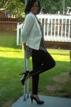 black Juicy Couture leggings - ivory Metaphor blazer