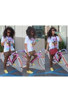 red coach bag coach belt - Studded yellow sneakers shoes