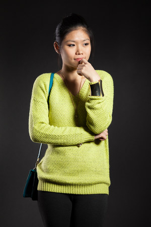 Forever21 sweater - Mexx leggings - Charles & Keith bag - swarovski necklace