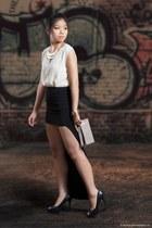 asos skirt - Forever 21 blouse - BCBGeneration heels