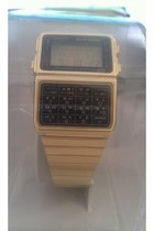 gold retro gold casio accessories