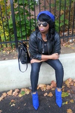 blue cobalt blue Shoedazzle boots