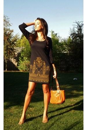 Max Studio dress - Michael Kors bag - Luxe Craving necklace - Frye heels