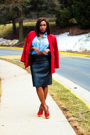 vintage jacket - Nordstrom shirt - isaac mizrahi skirt - Charlotte Olympia heels