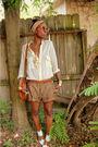Beige-zara-shorts-beige-shoes-beige-purse-beige-scarf-gold-accessories-