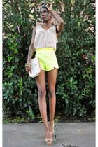 stacked Lulus bracelet - beginning boutique shoes - bag - romwe shorts
