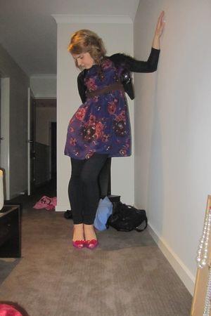 Alannah Hill dress - American Apparel leggings - Mazi cardigan - melissa for viv