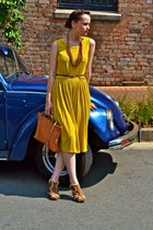 vintage bag - Upstairs Jozi dress - Plum heels