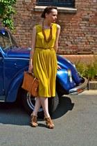 vintage bag - Upstairs Jozi dress - Plum heels