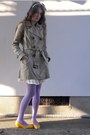 White-colza-dress-amethyst-mossimo-tights-mustard-bizazz-flats-brown-forev