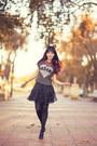 Charcoal-gray-miss-selfridge-t-shirt-black-forever-21-hair-accessory