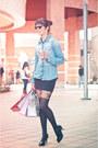 Black-topshop-tights-blue-jeans-fes-blouse-black-boulevard-skirt