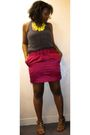 Gray-forever-21-blouse-pink-club-monaco-skirt-brown-payless-shoes-yellow-c